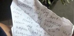 Noworodek porzucony przed drzwiami. Znaleźli przy nim wstrząsający list