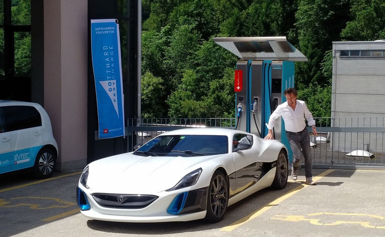Rimac concept one i Richard Hammond