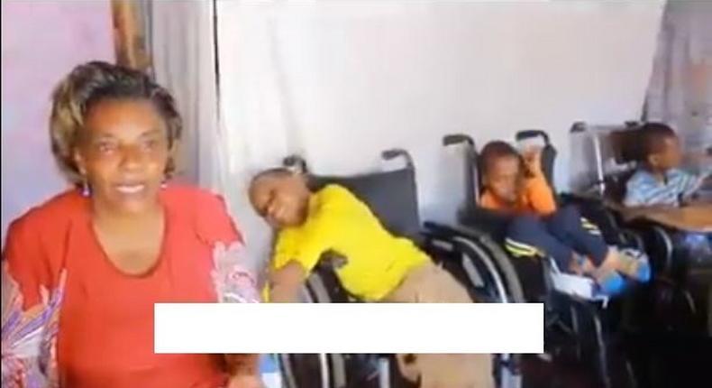 Kezziah Wambui with her Kids