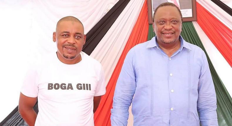President Uhuru Kenyatta meets ODM candidate for Msambweni by-election Omar Boga