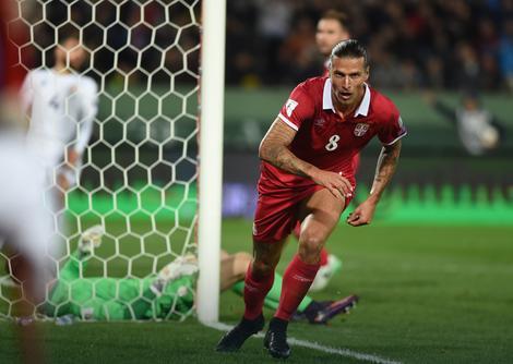 Aleksandar Prijović tren posle gola Gruziji