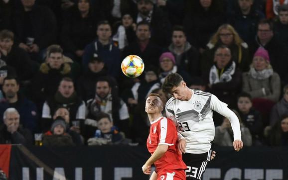 Miroslav Bogosavac na meču protiv Nemačke