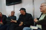 sajam knjiga iranski pisci Mohamad Reza Bajrami, Mohamad Kešavarz, Uroš Petrović i Dragan Velikić