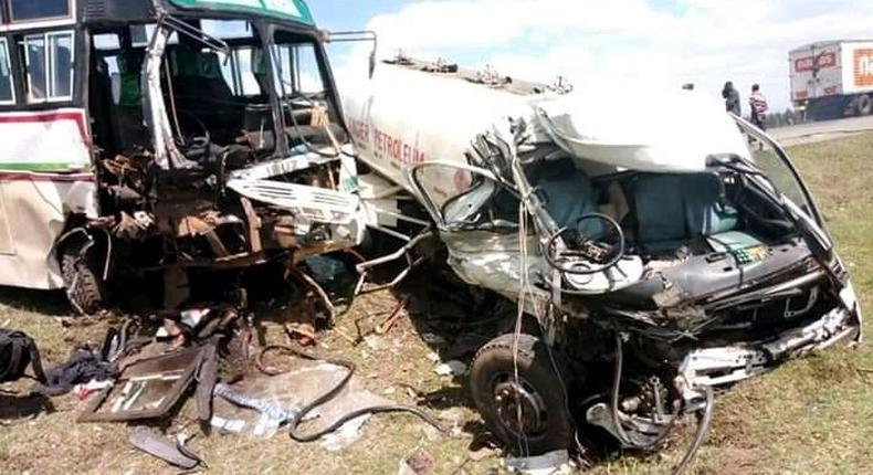 Salgaa accident between a bus and a petrol tanker