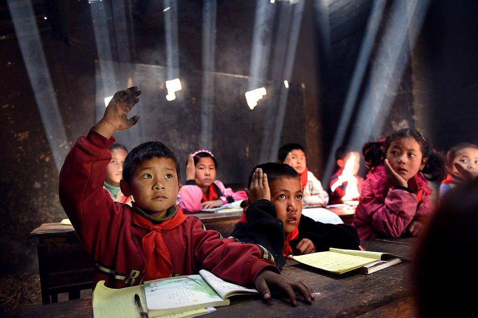 """Wyróżnienie: """"W klasie"""", fot. Jilin Lv"""