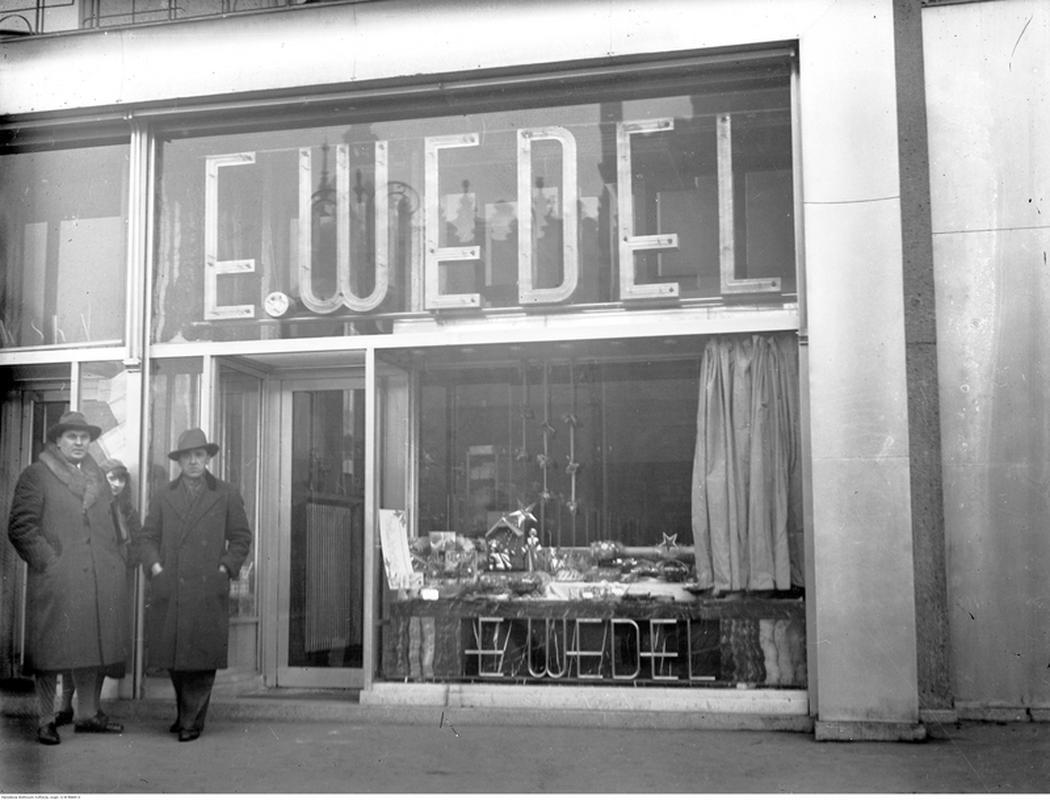 Sklep firmowy w Krakowie. Zdjęcia z 1932 r.