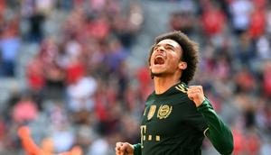 Bayern Munich winger Leroy Sane has been in superb form this season in both attack and defence Creator: Christof STACHE