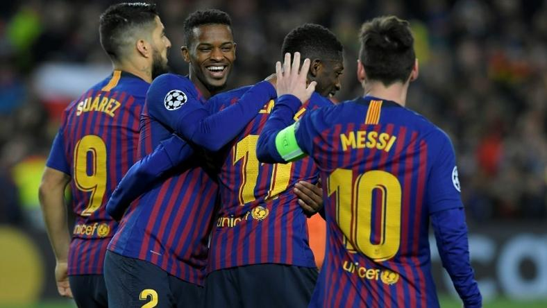 Ousmane Dembele came off the bench to score Barcelona's fifth goal in their 5-1 win over Lyon on Wednesday.