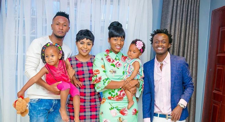 Bahati and his wife Diana Marua. Dj Mo and Size 8 .Bahati's Reality Show Being Bahati nominated in Kalasha Awards