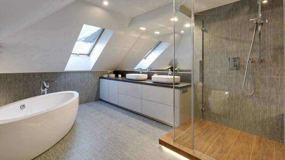 Genialnie Urządzona łazienka Pod Skosami Wygodna