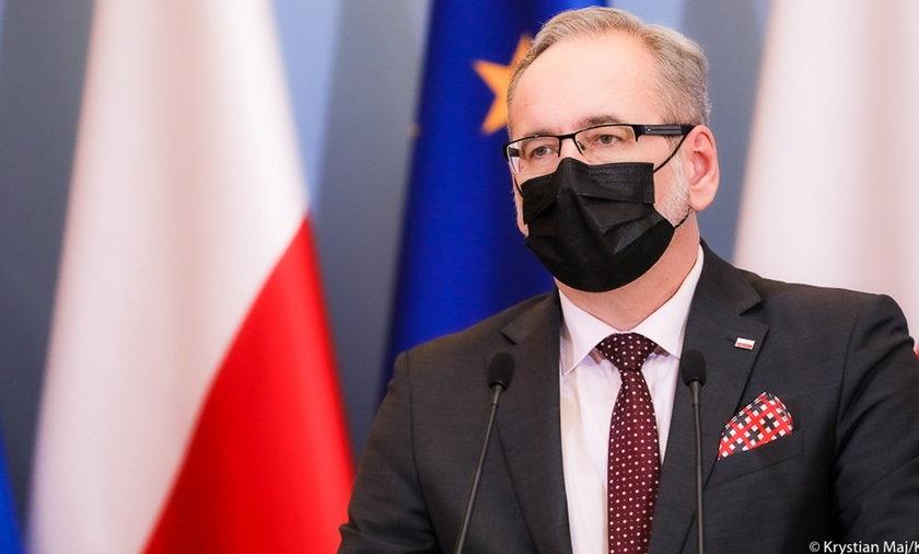 Na zdjęciu: minister zdrowia Adam Niedzielski.