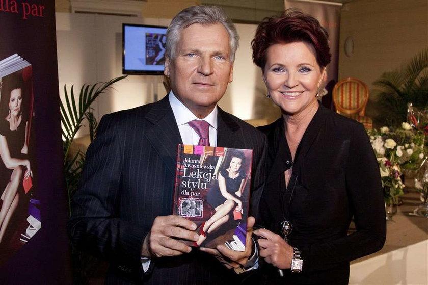 Kwaśniewska promuje książkę