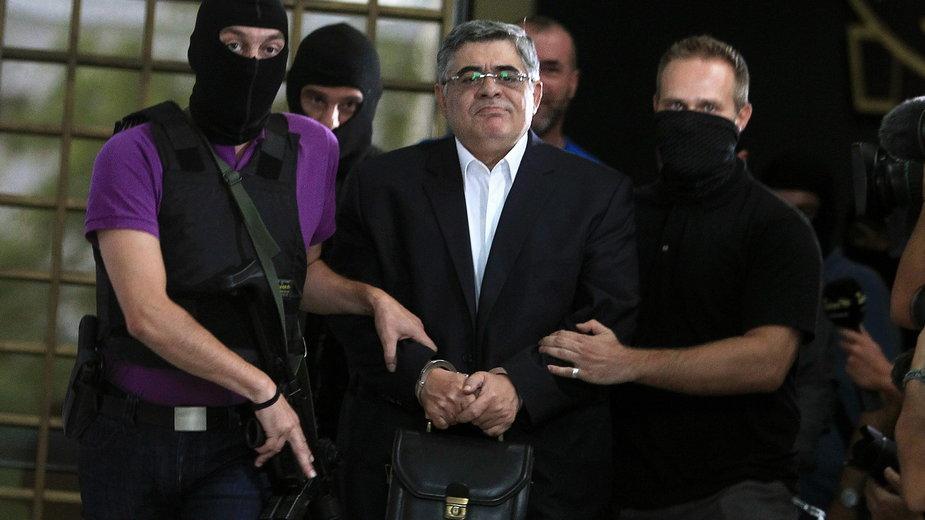 Nikolaos Michaloliakos w sądzie