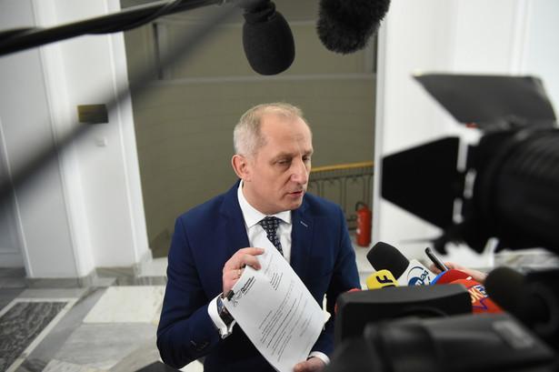 Przewodniczący klubu parlamentarnego Platformy Obywatelskiej Sławomir Neumann