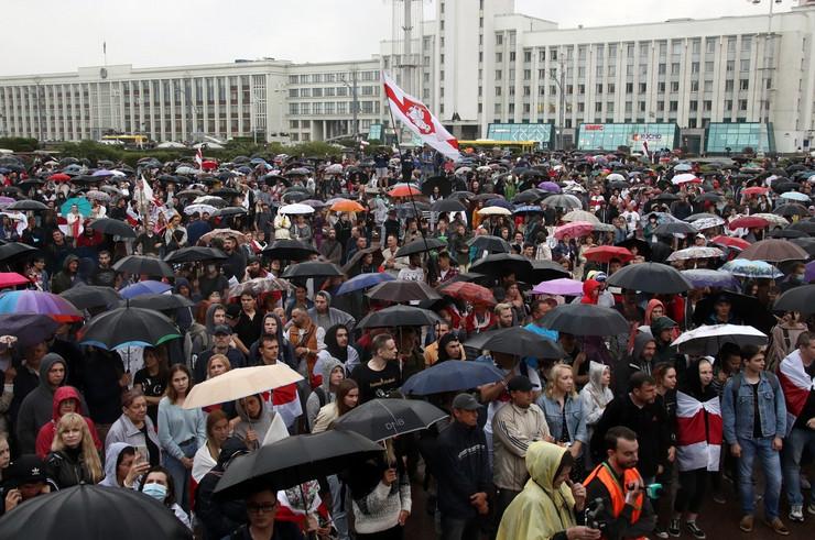 Belorusija Minsk protest