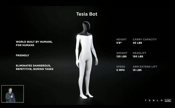 Robot humanoidalny od Tesli