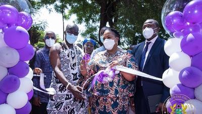 First Lady inaugurates waiting area at Korle Bu Teaching Hospital