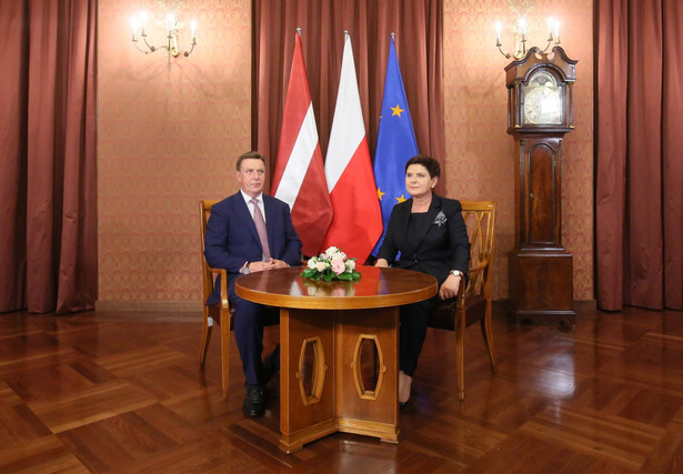 Premier Beata Szydło i premier Łotwy Maris Kucinskis