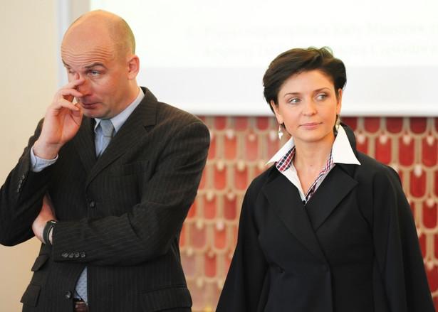 Marcin Korolec i Joanna Mucha