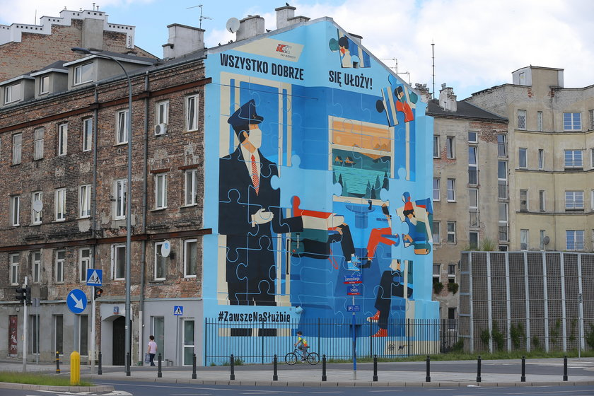 Mural dla kolejarzy