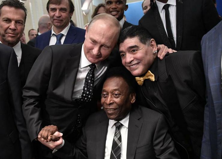 Pele, Dijego Maradona i Vladimir Putin