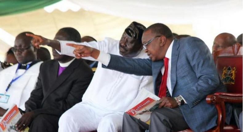 ODM leader Raila Odinga and President Uhuru Kenyatta