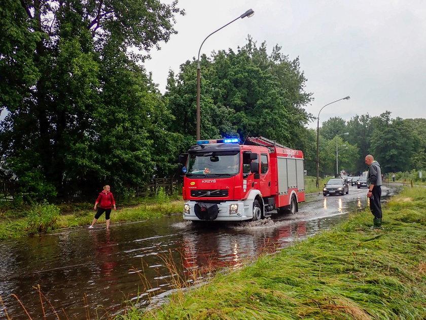 Ulewa w Łodzi