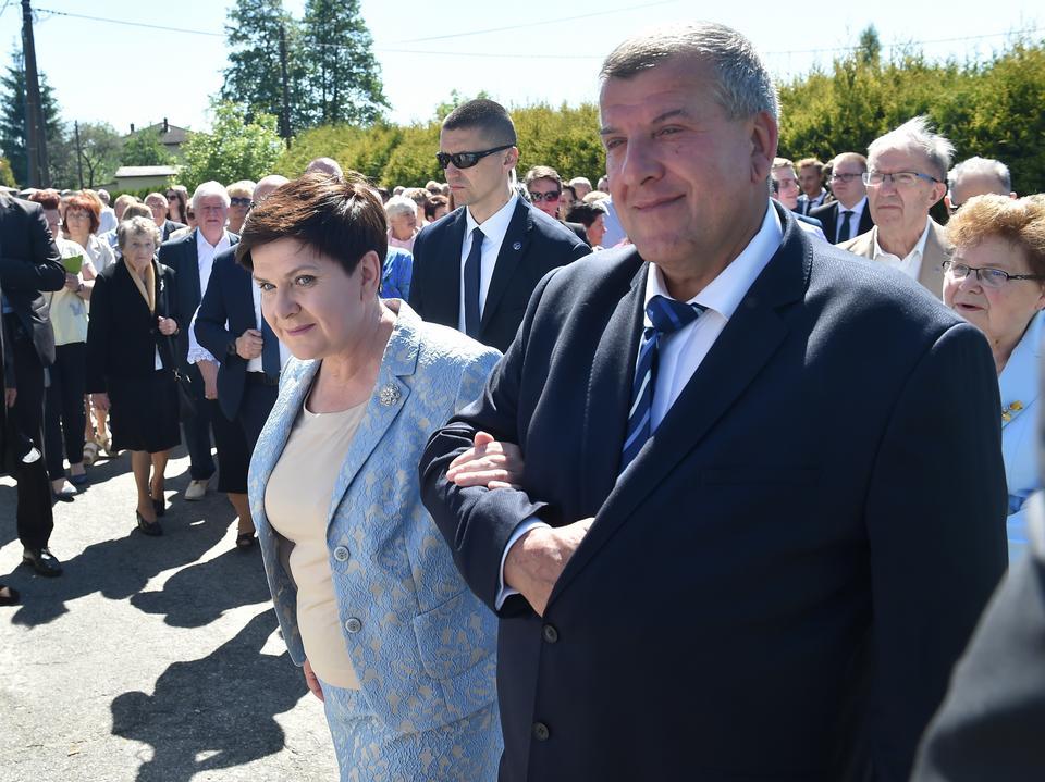 Minister Beata Szydło z małżonkiem Edwardem