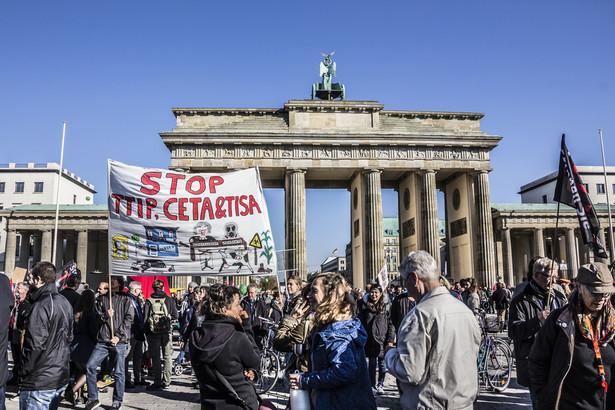 W grupie protestujących oprócz Słowaków byli też Rumuni, Czesi, Austriacy i Niemcy