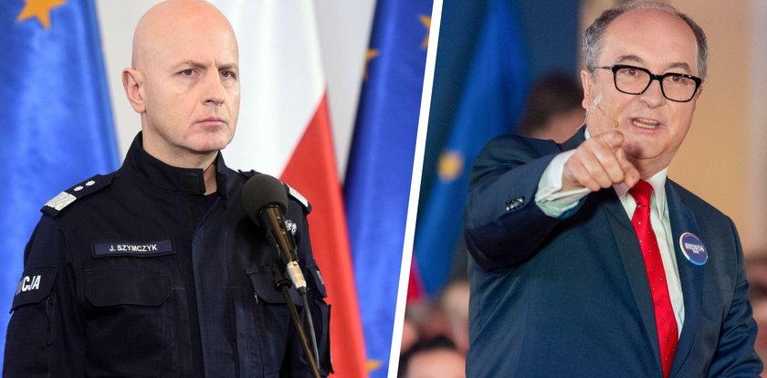 Gen. Szymczyk: policjanci to bohaterzy. Czarzasty: będą zweryfikowani!