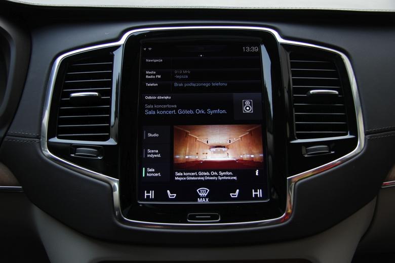 Volvo XC90 - system symulacji charakterystyki brzmienia sali koncertowej