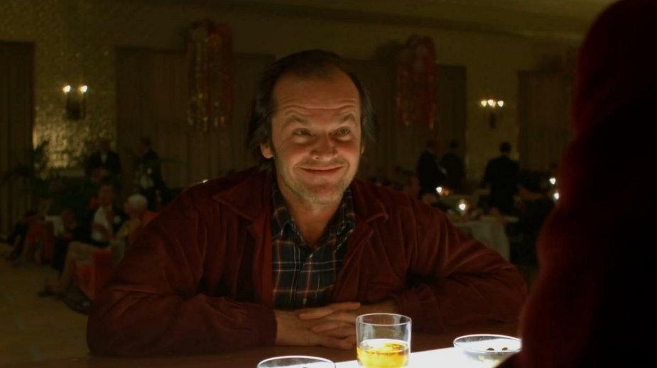 """Jack Nicholson w filmie """"Lśnienie"""""""