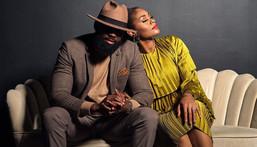 Nollywood actress Somkele Idlahama and her hubby [Instagram/SomkeleI]