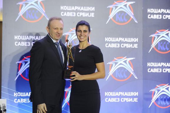 Prvi čovek srpske košarke i laureat KSS-a za 2015, Ana Dabović