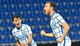 Christian Eriksen helped Inter to their first Italian league title since 2010 before suffering cardiac arrest at Euro 2020 Creator: GIOVANNI ISOLINO