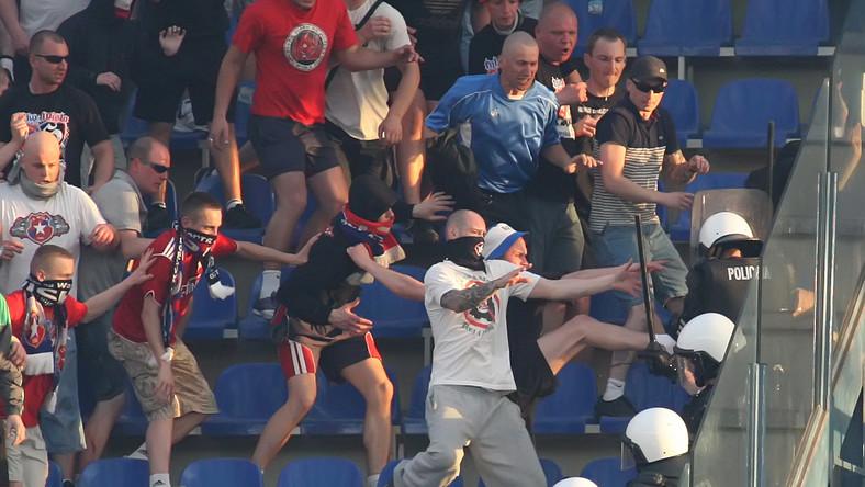 Tak derby Krakowa wyglądały na trybunach