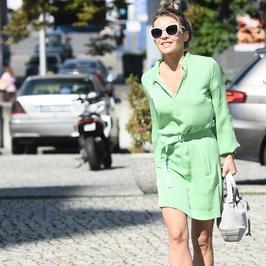 Edyta Herbuś zadała szyku w zielonej sukience. Ale ma nogi!