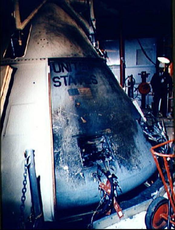 Požar je zahvatio kabinu u kojoj su se nalazili astronauti