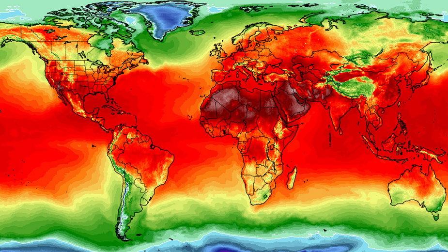 Ocieplenie klimatu - mapa
