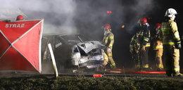 Tragedia pod Opolem. Kierowca spłonął żywcem, nastoletnie koszykarki w szpitalu (FOTO, WIDEO)