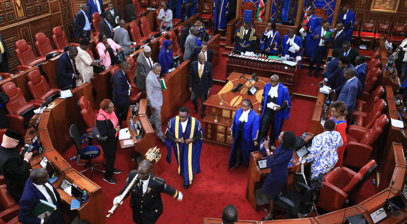 Senate debate on new formula adjourned as all Senators protest arrest of colleagues