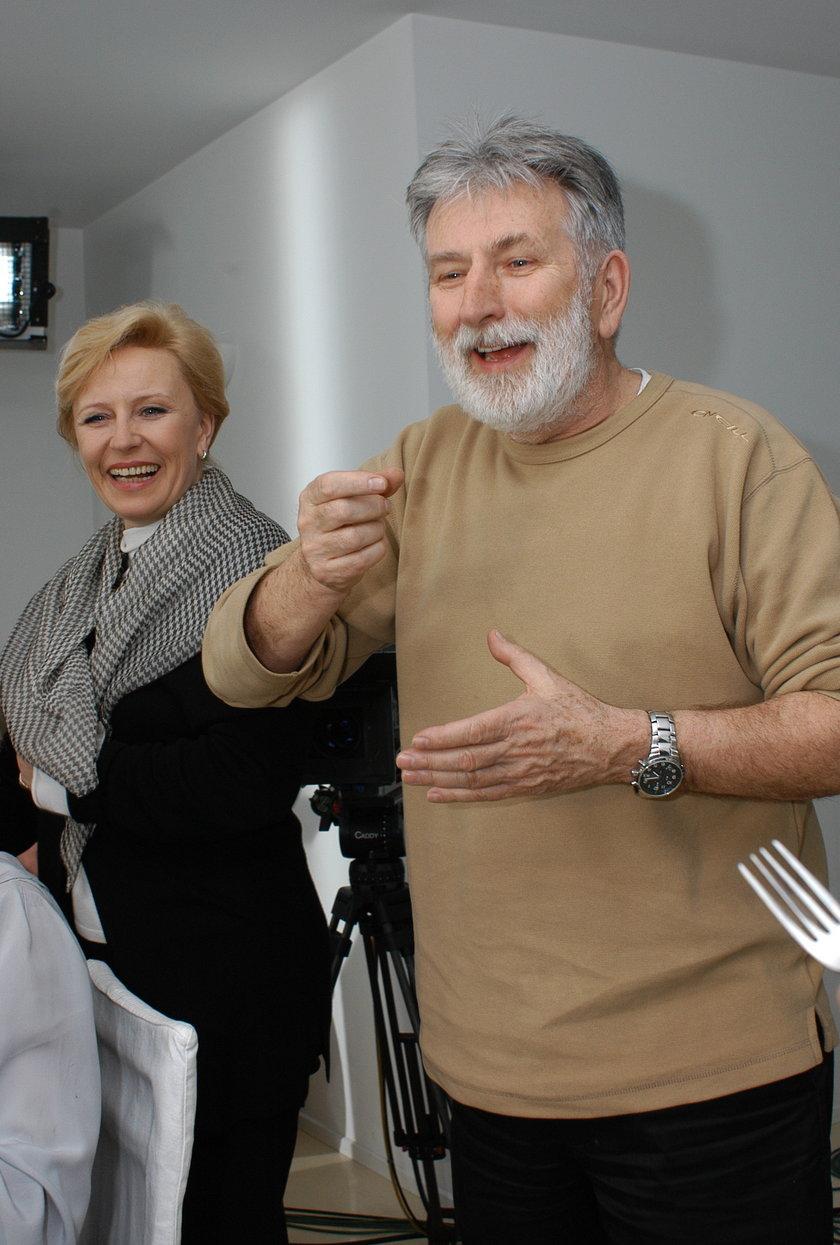 Edward Kłosiński i Krystyna Janda