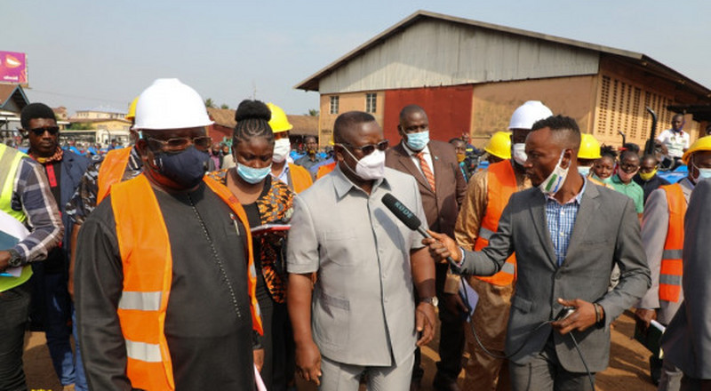 Sierra Leone's President Julius Maada Bio inspects Agricultural Machinery at the Agriculture Central Stores in Freetown