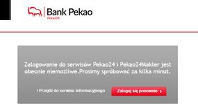 Awaria serwisów Pekao24.pl, Pekao24Makler oraz Xelion