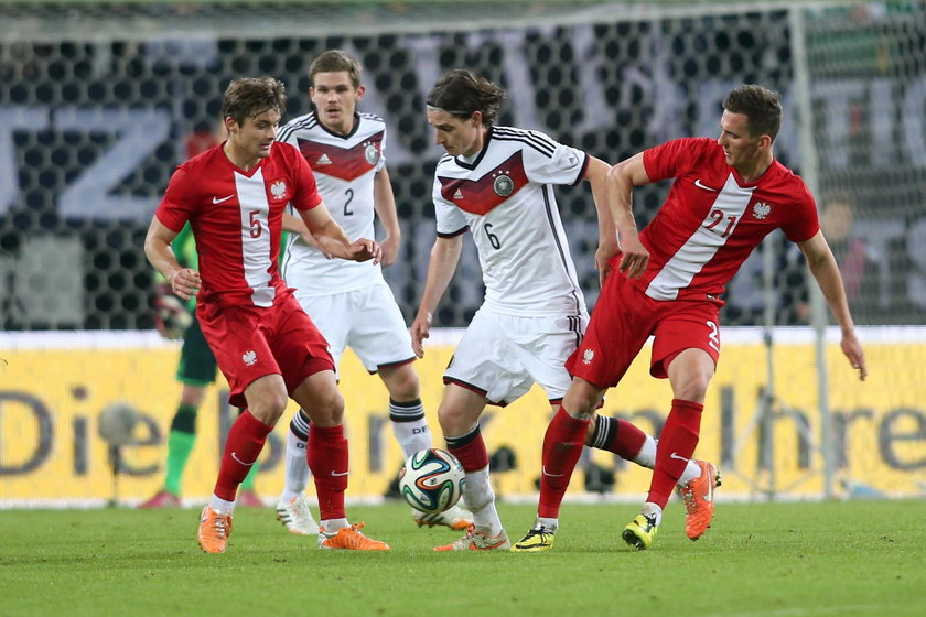 MIEDZYNARODOWY MECZ TOWARZYSKI: NIEMCY - POLSKA 0:0 --- INTERNATIONAL FRIENDLY FOOTBALL MATCH: GERMA
