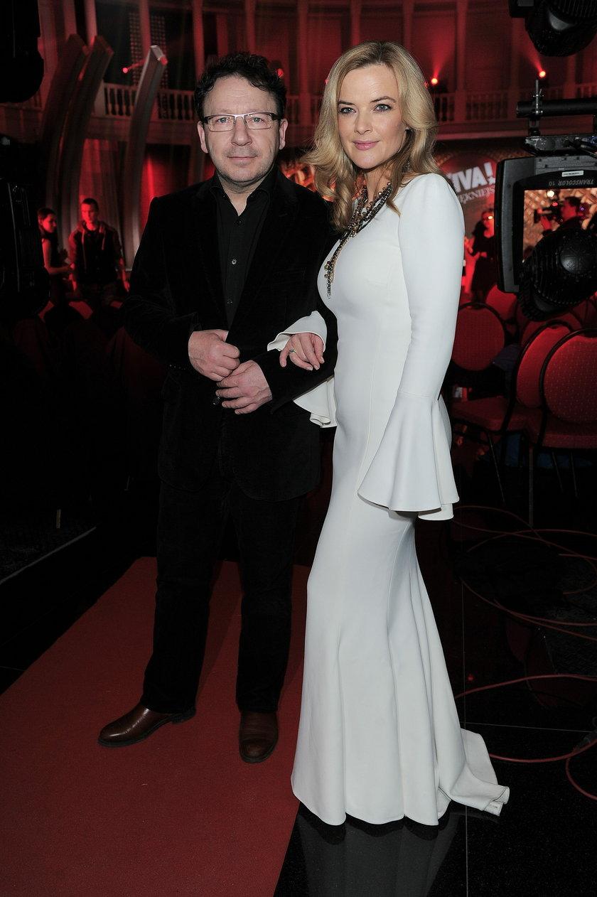 Zbigniew i Monika Zamachowscy w lutym 2014 roku