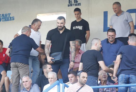 Nikola Peković je bodrio Partizan