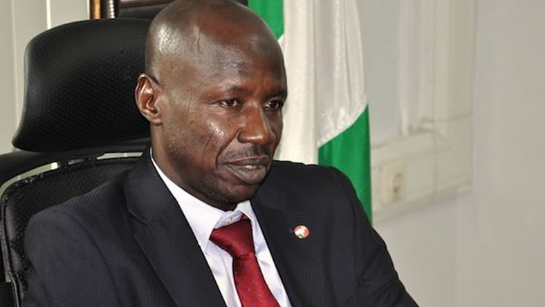 Suspended acting EFCC chairman, Ibrahim Magu, has been questioned for days over suspicions of corruption [Guardian]