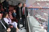 Predsednik Rusije Vladimir Putin, premijer Dimitrij Medvedov, predsednik Azerbejdžana lham Alijev i njegova surpuga Mihriban Alijeva