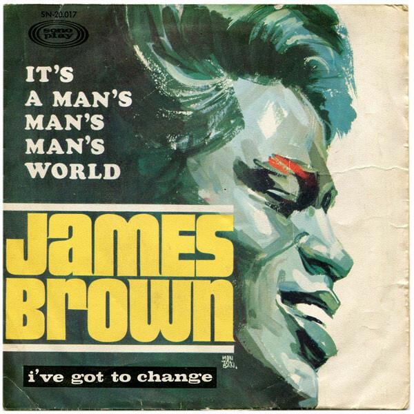 African American soul singer James Brown